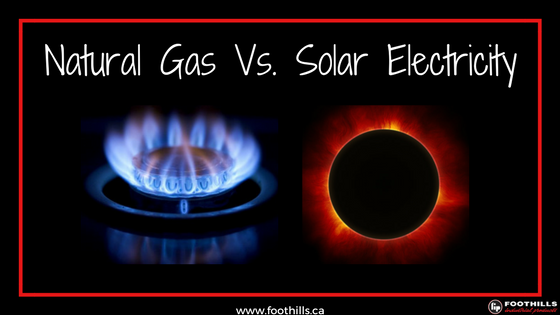Natural Gas Vs. Solar Electricity