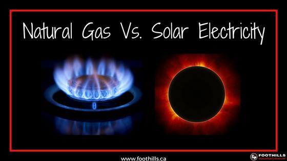 Natural Gas Vs. Solar Electricity