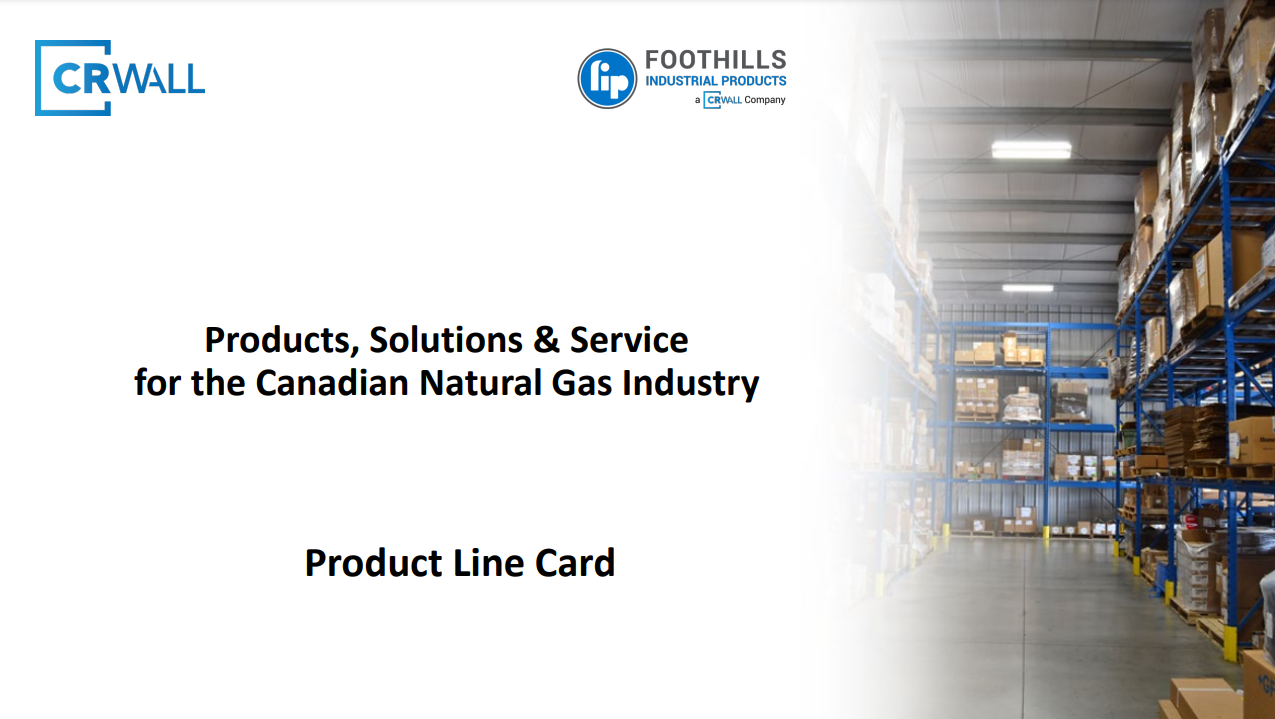 CR Wall Product Line Card